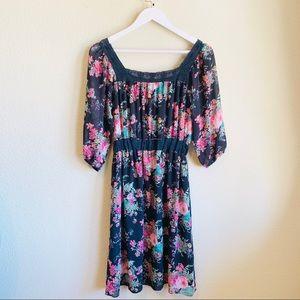 Anthropologie Dresses - ANTHROPOLOGIE Hazel MIDI Floral Dress